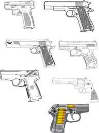 Gun illustration set