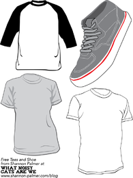 Sneakers And T Shirt Template Vector