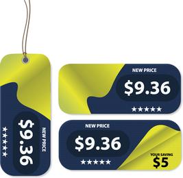 Vector libre etiquetas de precios