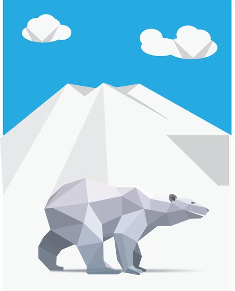 Free Vector Origami Polar Bear - Vector download - photo#18
