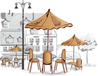 Cafeterias en la carretera 02 Vector