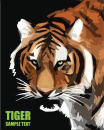 Vetor de imagem 23 de tigre