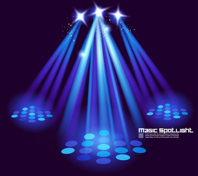 Stage Lighting Effects 03 Vector - Vector download