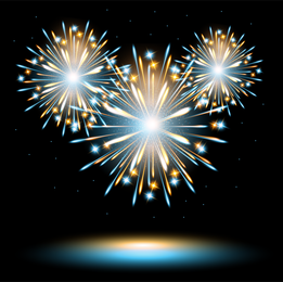 The Fireworks Effect 02 Vector