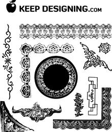 Antike Rahmen und Ornamente