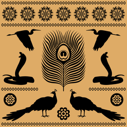 Vetor de texturas de totem egípcio 05