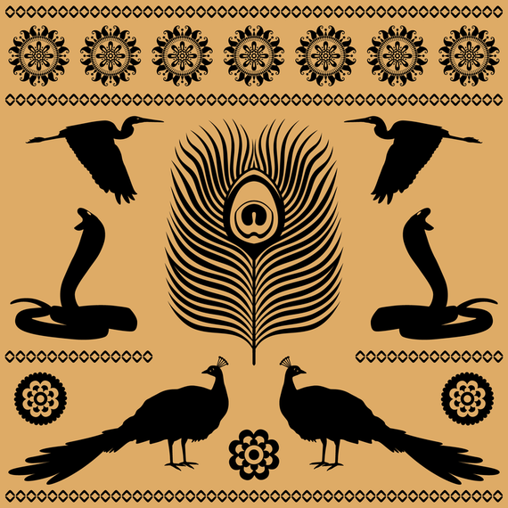 Egyptian Totem Textures 05 Vector