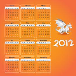 Calendário do ano 2012