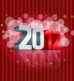 Vektor-Illustration des neuen Jahres 2012