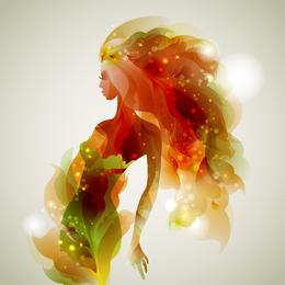 Moda beleza illustrator 02 vector
