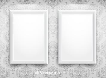 Vector de marco en blanco 4