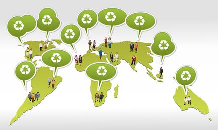 Vector de cuadro de diálogo de protección del medio ambiente