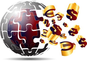 3D Dynamic Logo04 Vector
