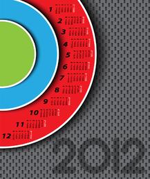 2012 circle calendar