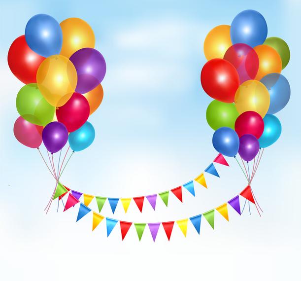 09 globos de vectores - Descargar vector