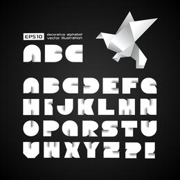 El vector de letras de origami creativo