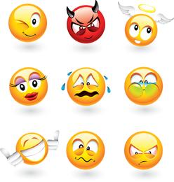 Conjunto de emoticons clássicos