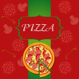 Pizza Illustrator 01 Vector