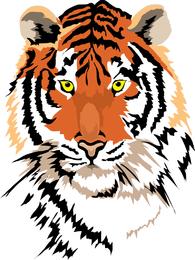 Imagem de tigre 01 Vector
