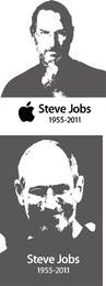 Steve Jobs Steve Jobs Vector blanco y negro
