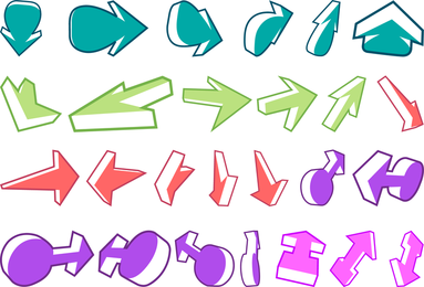 A Wide Range Of Arrows And Other Of The Two Vector