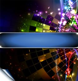 Efeitos de iluminação brilhante 04 Vector