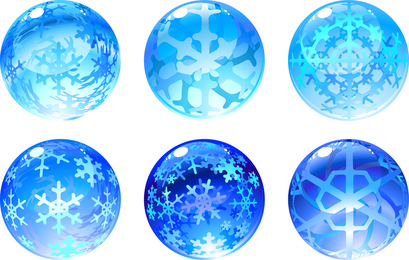 Vector de globo de nieve tallado
