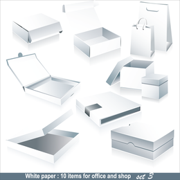 Blank Box Packaging Vector