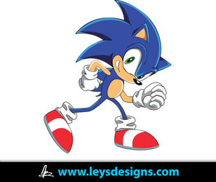 Sonic The Hedgehog Vector