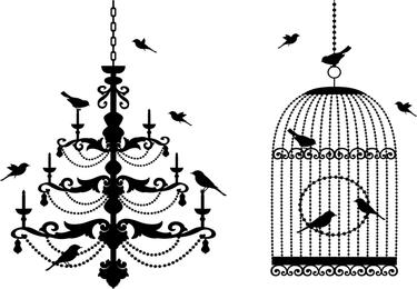 Birdcage Theme Vector