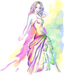 Fashion Beauty Illustrator 03 Vector