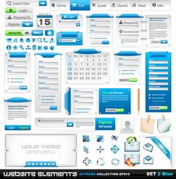 Web Design Elements 02 Vector 2