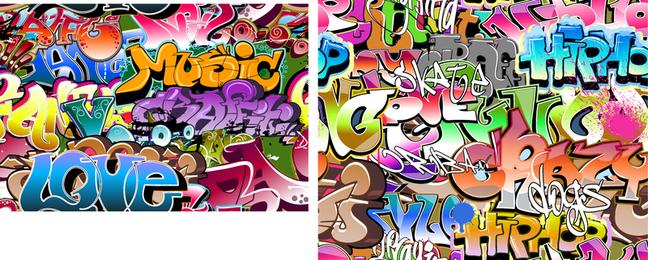 Belo grafite fonte Design 04 Vector