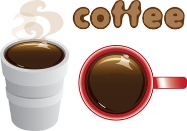 En el café de espuma de poliestireno Copa y taza