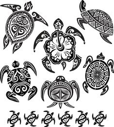 Tartaruga Totem Vector 1