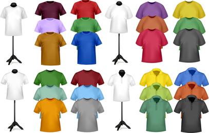 Shortsleeve Tshirt Template 03 Vector