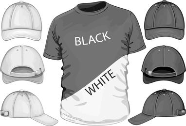 Kurzarm-T-Shirt-Schablone 04 Vektor