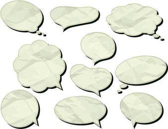 Marcas de papel en el cuadro de diálogo Vector