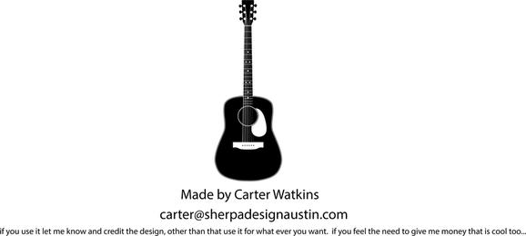 Black guitar element