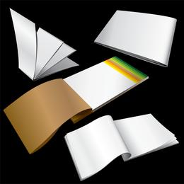 Vector de bloc de notas en blanco