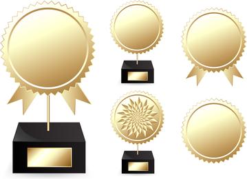 Vetor de medalhas de troféus