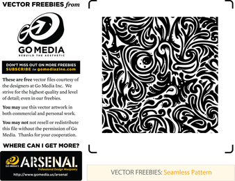 Seamless Swirls Vector pattern