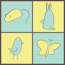 Adorables animales de primavera