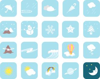 Wetter-Vektor-Symbole