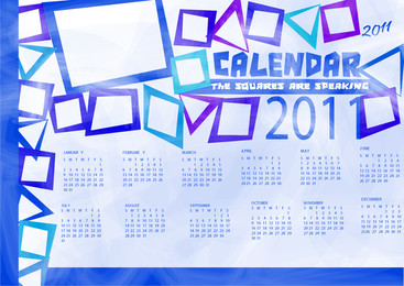 Various Years 2011 Template Vector