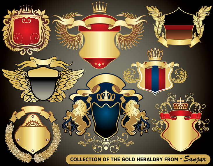 European Heraldry Collection Vector