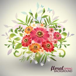 Schöner Blumenstrauß 02 Vektor