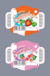 Hermosa pasta de frutas vector
