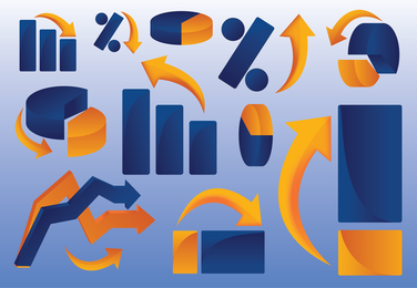 Clip art gráfico de negócios