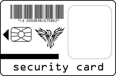 Security Card Vector
